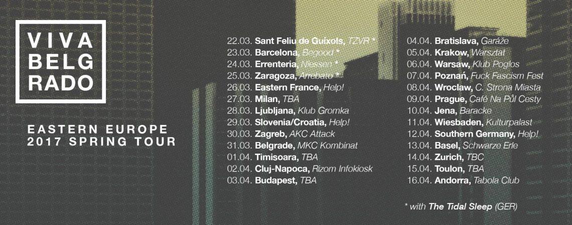 Nueva gira europea de Viva Belgrado en marzo/abril